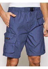 Superdry Szorty materiałowe Ult Cargo M7110210A Granatowy Regular Fit. Kolor: niebieski. Materiał: materiał