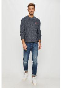 Niebieski sweter Tommy Jeans casualowy, długi