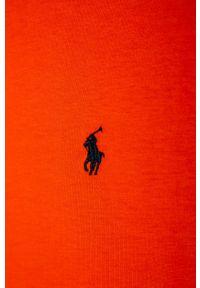 Pomarańczowy t-shirt Polo Ralph Lauren polo, na co dzień, casualowy