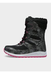Czarne buty zimowe 4f na zimę