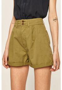 Zielone szorty Pepe Jeans casualowe, na co dzień