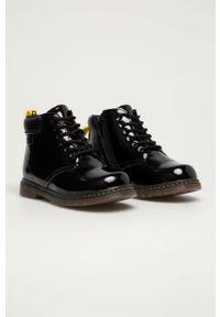 Czarne buty zimowe Big-Star z cholewką, na zimę, na sznurówki