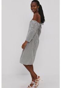 Vero Moda - Sukienka. Kolor: zielony. Materiał: bawełna, tkanina. Typ sukienki: rozkloszowane