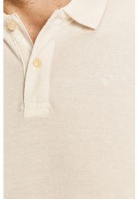 Pepe Jeans - Polo. Typ kołnierza: polo. Kolor: biały. Materiał: dzianina. Długość: krótkie