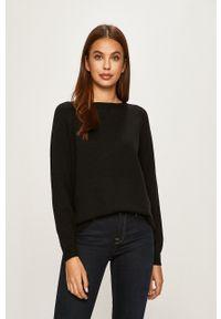 only - Only - Sweter. Kolor: czarny. Materiał: dzianina, materiał. Długość rękawa: raglanowy rękaw. Wzór: gładki
