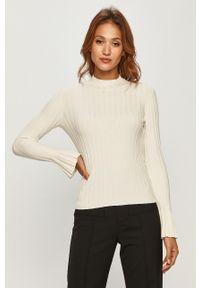 Biały sweter Miss Sixty długi, klasyczny