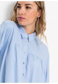Niebieska bluzka bonprix z długim rękawem, długa