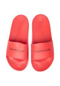 Czerwone klapki Calvin Klein Swimwear na co dzień, casualowe