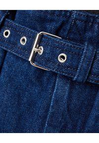 ISABEL MARANT - Granatowe spodenki z bawełny. Kolor: niebieski. Materiał: bawełna. Wzór: aplikacja. Styl: klasyczny