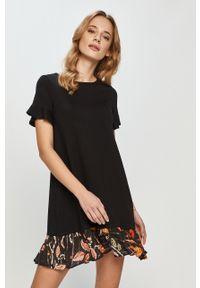 Czarna sukienka Desigual mini, gładkie