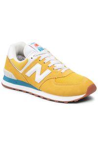 New Balance - Sneakersy NEW BALANCE - ML574HB2 Żółty. Kolor: żółty. Materiał: zamsz, materiał, skóra. Model: New Balance 574