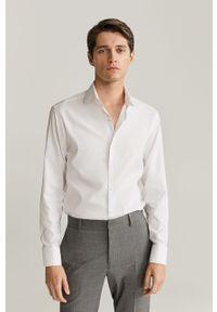 Biała koszula Mango Man z włoskim kołnierzykiem, długa