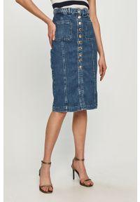 Niebieska spódnica Pinko gładkie, klasyczna, na co dzień