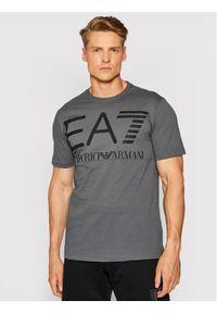 EA7 Emporio Armani T-Shirt 6KPT23 PJ6EZ 1977 Szary Regular Fit. Kolor: szary