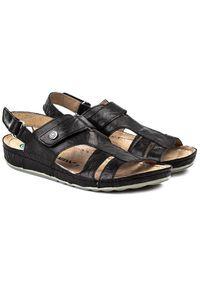 Czarne sandały Dr. Brinkmann z aplikacjami