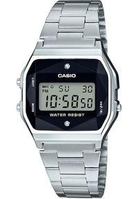 Srebrny zegarek Casio retro