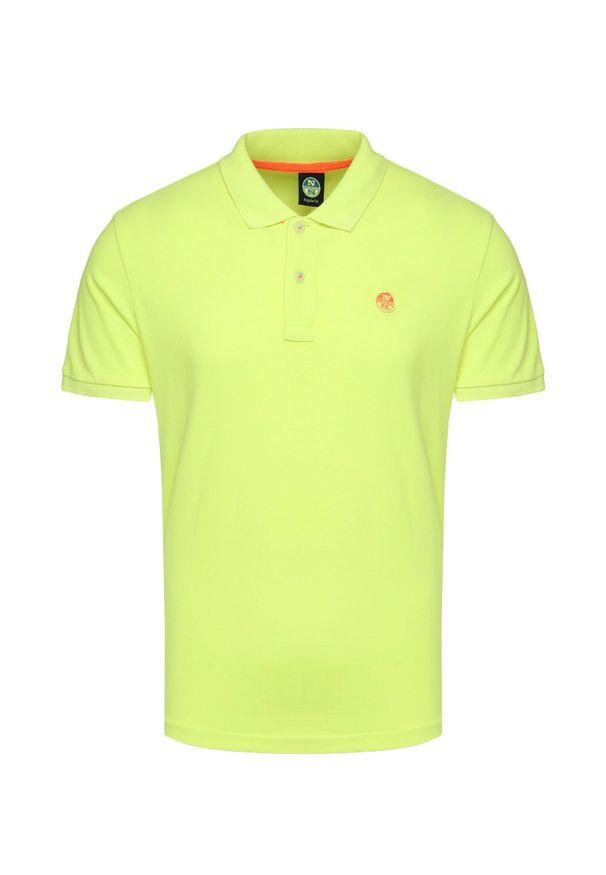 Żółta koszulka polo North Sails na lato, z aplikacjami, polo