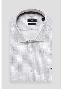 Biała koszula Tommy Hilfiger Tailored z włoskim kołnierzykiem, elegancka, długa