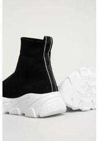 Czarne buty sportowe Answear Lab na obcasie, na średnim obcasie, z okrągłym noskiem, z cholewką