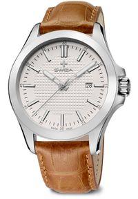 Zegarek Swiza Zegarek męski Urbanus SST brązowy (WAT.0761.1006). Kolor: brązowy