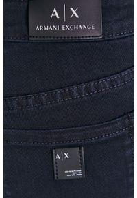 Armani Exchange - Jeansy. Stan: podwyższony. Kolor: niebieski