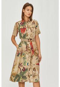 Desigual - Sukienka. Materiał: tkanina. Długość rękawa: krótki rękaw. Typ sukienki: rozkloszowane