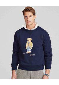Ralph Lauren - RALPH LAUREN - Granatowa bluza z misiem Polo. Okazja: do domu, na spacer. Typ kołnierza: polo. Kolor: niebieski. Materiał: bawełna, dresówka, jeans. Długość rękawa: długi rękaw. Długość: długie. Sezon: jesień. Styl: klasyczny