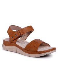 Brązowe sandały Comfort Basic na co dzień, casualowe
