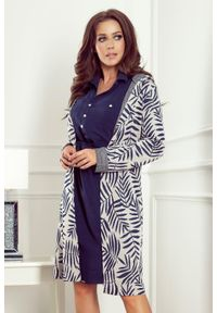 Sweter Numoco z kapturem, długi, elegancki