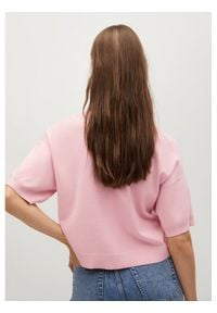 Różowa koszulka polo mango polo