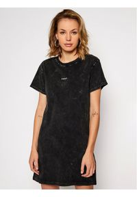 Czarna sukienka DKNY Sport prosta, sportowa