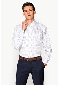 Biała koszula Lancerto z nadrukiem #1