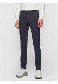 BOSS - Boss Chinosy Broad1-W 50447070 Granatowy Slim Fit. Kolor: niebieski