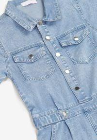 Born2be - Niebieski Kombinezon Pethanthei. Kolor: niebieski. Materiał: jeans. Długość rękawa: krótki rękaw. Sezon: lato. Styl: klasyczny #5