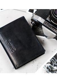 4U CAVALDI - Portfel męski czarny Cavaldi N4-NAD-BOX-1465 BLAC. Kolor: czarny. Materiał: skóra