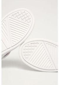 Białe buty sportowe Big-Star z okrągłym noskiem, na rzepy, z cholewką