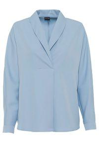 Szara bluzka bonprix z długim rękawem, długa