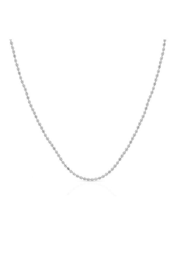 W.KRUK Łańcuszek Srebrny - srebro 925 - SCR/LS128. Materiał: srebrne. Kolor: srebrny. Wzór: ze splotem