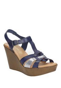 Niebieskie sandały Verano na lato, na co dzień