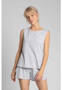 Szara piżama MOE z haftami