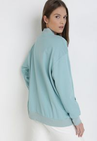Miętowa bluza rozpinana Born2be