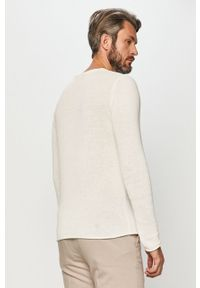 Biały sweter Premium by Jack&Jones casualowy, na co dzień