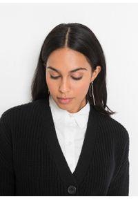 Sweter rozpinany oversize bonprix czarny. Kolor: czarny