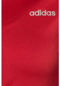 Czerwona bluza rozpinana Adidas casualowa, na co dzień, raglanowy rękaw