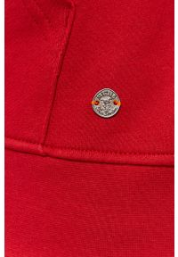 Mustang - Bluza bawełniana. Okazja: na co dzień. Kolor: czerwony. Materiał: bawełna. Styl: casual
