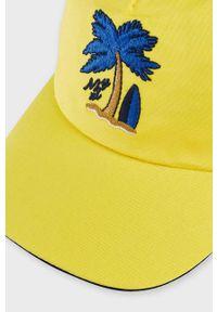 Żółta czapka z daszkiem Mayoral z aplikacjami