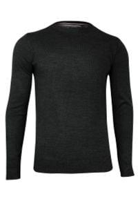 Szary sweter Brave Soul do pracy, biznesowy, z okrągłym kołnierzem