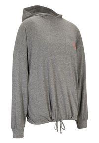 Shirt oversize z bawełny organicznej, długi rękaw bonprix szary melanż. Kolor: szary. Materiał: bawełna. Długość rękawa: długi rękaw. Długość: długie. Wzór: melanż