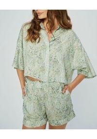 MARLU - Spodenki z zielonym printem Tigre. Kolor: zielony. Materiał: bawełna, elastan. Wzór: nadruk. Sezon: lato