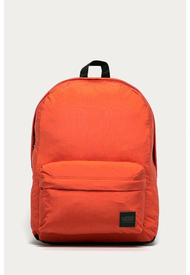 Vans - Plecak. Kolor: pomarańczowy. Materiał: materiał, nylon, poliester. Wzór: gładki